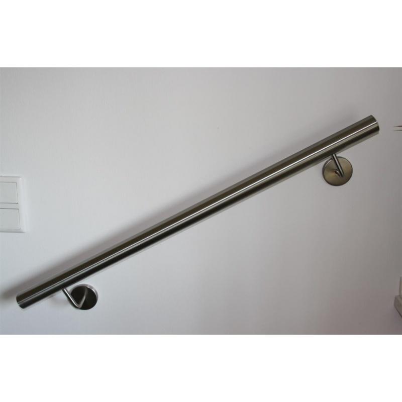 2 Halter Gerade Edelstahl Handlauf V2A Treppenhandlauf Ø42,4mm 1300 mm