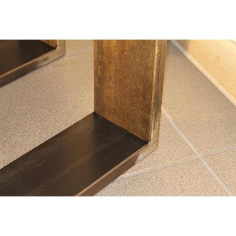 rapa mensalis tischbeine tischgestell rohstahl klarlack 80x73 design. Black Bedroom Furniture Sets. Home Design Ideas