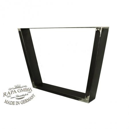 tischgestell schwarz rohstahl 600 x 720 auflage 800 platte im paar. Black Bedroom Furniture Sets. Home Design Ideas