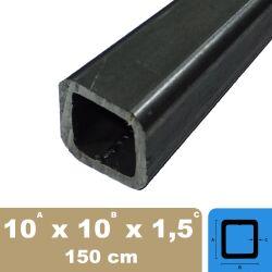 80x60x2,5mm Rechteckrohr Vierkantrohr Profilrohr Stahl-rohr bis 1000mm 10,20€//m