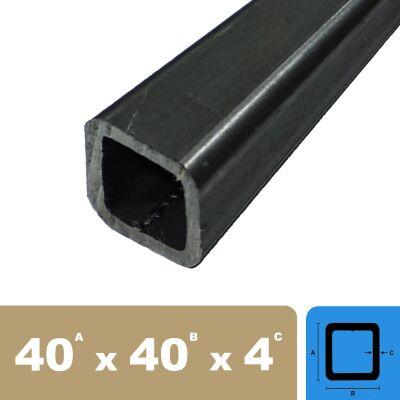 Quadratrohr Stahlrohr Hohlprofil Vierkantrohr 2000mm L/änge 40x40x3