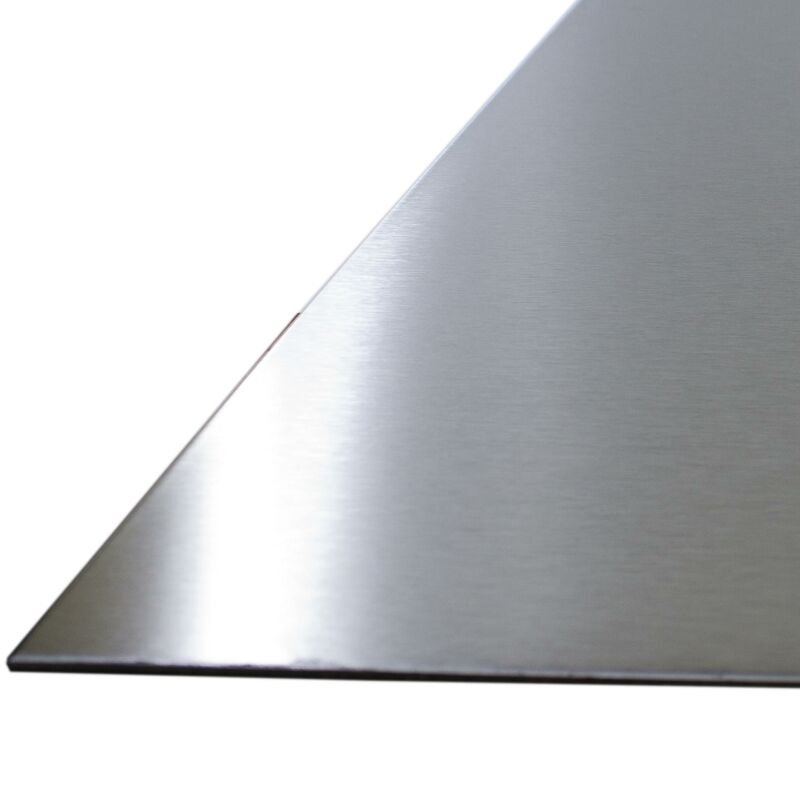 EDELSTAHLBLECH V2A 1,4301 1 mm x 300 mm x 1000 mm 240 KORN GESCHLIFFEN BLECH