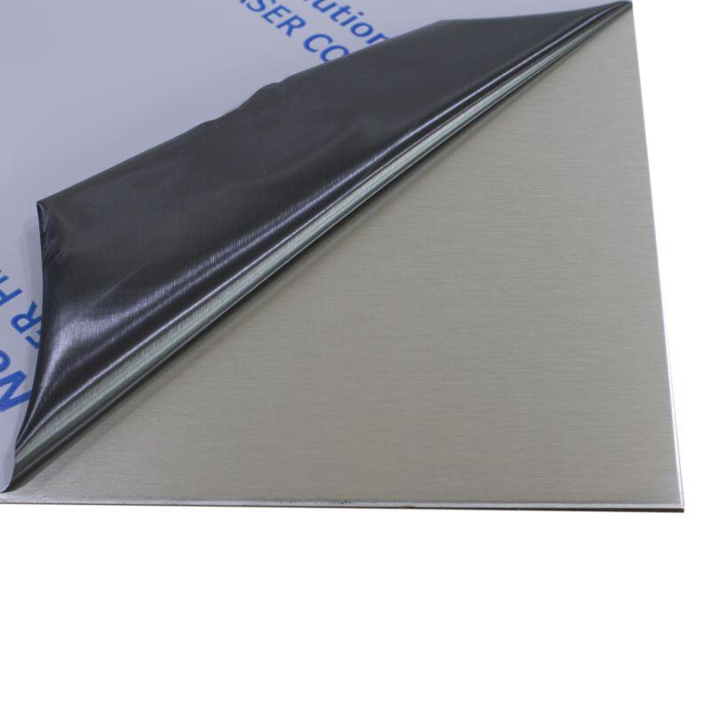 2,0 mm stark 50 x 80 cm foliert Gr/ö/ße 500 x 800 mm B/&T Metall Edelstahl V2A Blech-Zuschnitt geschliffen K240